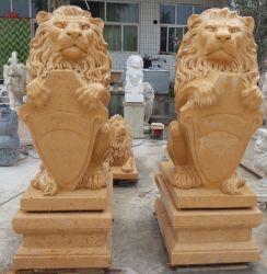 石造りの彫刻の大理石の庭は販売のためのライオンを彫る