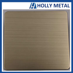 Farben-Haarstrichblatt des Edelstahl-201 für Dekoration-Materialien
