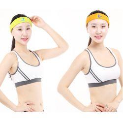 De alta calidad de la banda de pelo populares mujer niña diadema de algodón Deporte Yoga Logotipo personalizado Mayorista de diadema