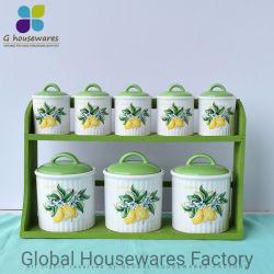Керамические бак для хранения Герметичный кувшин блендера приправу бак комплект из 8 лимонов