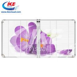 P5 P7 visor transparente LED com fechos rápidos de Vidro interior display LED de malha