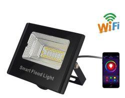 16W proyector LED RGBW, WiFi conectado el cambio de color de luz LED inteligente regulable con Alexa y Google Portada&Tuya APP para la etapa de patio, jardín, el paisaje