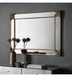 Nuevo diseño Azul Gris espejo colgando del bastidor de madera Decoración de pared