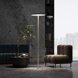 패션 라운드 셰이프 Luna 시리즈 사무실 플로어 램프, 서있는 바닥 스탠딩, 일광 센서 및 동작 센서