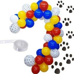 دورية الموضوع بالون الانعراج مجموعة غارلاند 12 بوصة الكلب بالون والبالون الأبيض الأزرق الأحمر اللّتكس لعيد ميلاد الطفل حفلة كرنفال سيرك مزرعة الدش