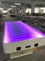 Preiswerter Preis-elektrischer thermischer Heizungs-Therapie-Wasser-Tisch entspannender BADEKURORT Gesichtsmassage-Bett-Schönheits-Salon-Möbel mit LED-Licht (D1412)