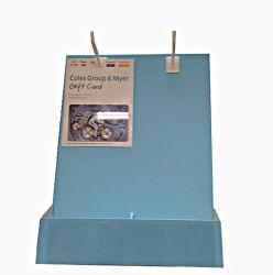 El cartón personalizada pantalla de la tarjeta de la Mesa con gancho de plástico o metal y la tarjeta titular de la revista