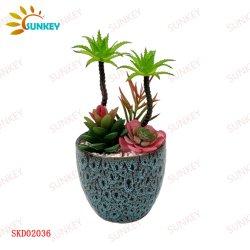 홈 오피스 크리에이티브 인공녹색 식물 세라믹 장식, 에버그린 도매