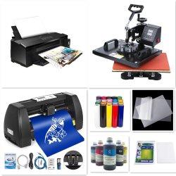 Ruolin L1800 DTF 프린터 열전사 승화 기계 및 14인치 비닐 커터 커팅 플로터. 모든 재료도 포함되어 있습니다