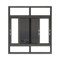 허리케인 영향 1.4mm 두께 절연된 알루미늄 슬라이딩 윈도우 304 # 스테인리스 모스키토 네트/메쉬 유리 창문, 잠금/낮은 E/강화/라미네이트 광택