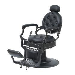 Draaiende en tilkende kapstoel voor kapsalon met pedaal Retro kappersstoel