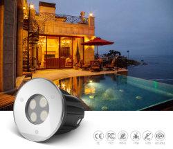 Piscina a LED subacquea incassata impermeabile IP68 da 3 W 24 V. Leggero con ERP