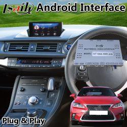 Android Lexus CT200h Interface vidéo multimédia, la navigation GPS de voiture