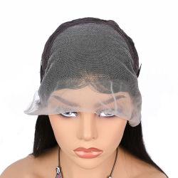 سعر الجملة العم فيرجن انحياز الشعر قبل الجرح البشرية شعرشة بشعر أسود مع إغلاق لace البرازيلي wig