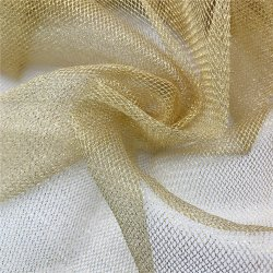 De nylon Glanzende Gebreide Willekeurige Stof van het Netwerk van Tulle van het Netwerk Metaal voor Decoratie