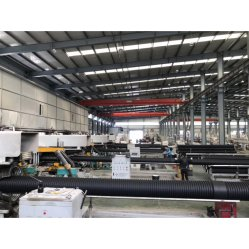 HDPE/PP/PVC große Durchmesser vertikale Typ doppelwandige Wellrohr Produktionslinie