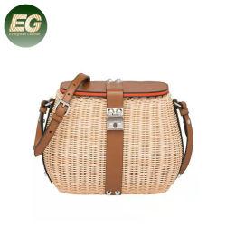 Sacchetto di bambù Handmade della Boemia della paglia del commercio all'ingrosso del sacchetto 2020 del rattan tessuto Bali dei sacchetti di spalla della borsa della spiaggia di T134 Crossbody