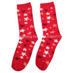 Venda Estrela e algodão com fios de penas mulheres Jacquard senhoras raparigas meias de doces
