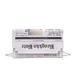 인쇄된 예술 신문 어깨 또는 지갑 또는 손 부대