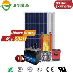 طاقة إضاءة منزلية للإمداد المحمول 5/10/15/25 كيلو واط على نظام الطاقة الشمسية للشبكة مع البطارية