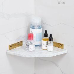 최상 백색 색깔 샤워 저장은 선반 목욕탕 벽 구석 선반을 선반에 놓는다