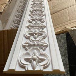 Elegante blanco estilo francés Benable talladas de moldeo de cornisa de espuma de poliuretano PU Cornisas para techo/pared Decoración