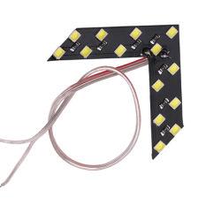 مصباح إشارة انعطاف LED للسيارة واحد مرآة الرؤية الخلفية ضوء مؤشر لوحات الأسهم لمبة إشارة مرآة الرؤية الخلفية 12 فولت 14 SMD Yellow (علامة SMD