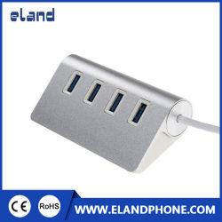 Высокая скорость горячей продажи на базе USB 3.0, 4 порт USB Hub алюминиевый корпус