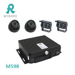 4 채널 128GB SD Card CCTV Mobile DVR 3G 4G WiFi GPS 720p 1080P Ahd Cameras Car Tracker Mdvr