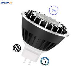 3W Paisagem Lâmpadas LED MR16 280lm para locais húmidos