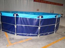 Biofloc geomembrana de PVC plástico recubierto de goma lona del sistema de depósito de piscicultura