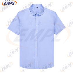 Чистый хлопок площади длинной втулки втулки удобные Non-Iron простой в уходе мужские футболки