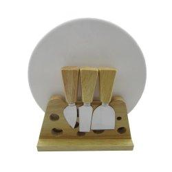 SET di coltelli per formaggio CON manico in gomma e legno, 5 PEZZI, con taglio in ceramica Scheda