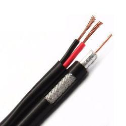 Rg59 Cable Coaxial Cable siamés de CCTV para la Seguridad Camera-Combo Video y cable de alimentación