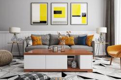 中国の工場の現代家の家具 MDF の反響室のコーヒーテーブル 木製のダイニングルームサイドテーブルベッドルーム、長方形のベッドテーブル、メラミン仕上げ ラミネート加工されたティーテーブル