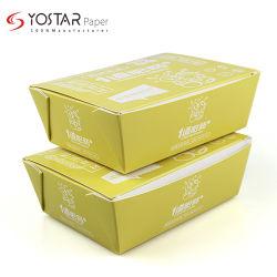 Papier pour carton blanc jetables de nouilles frites Boîte de papier de l'emballage