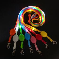 사용자 정의 로고 인쇄 LED 라냐즈 폴리에스테르 로프