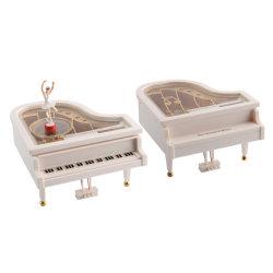 10208254 Manivelle de la boîte à musique de piano avec ballerine jouet musical