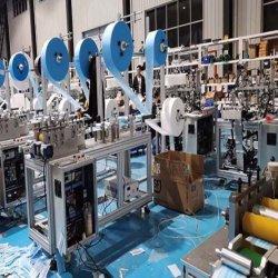 고속 초음파 절단 직물 기계 3/4 가닥 처분할 수 있는 가면 절단기 짠것이 아닌 가면 절단 귀 루프 반점 초음파 용접 기계