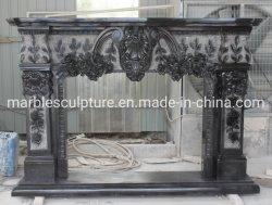 Pietra Mantel interni decorazione casa Beige marmo Mantel (SYMF-324)