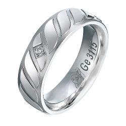 Usine de diamants d'argent pierre plate bague de mariage anniversaire Les Cadeaux