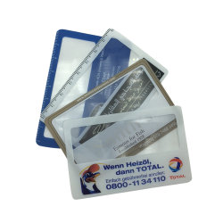 الشعار المخصص محفظة PVC بطاقة الائتمان المكبر حجم العرض الترويجي