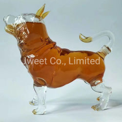 OEM 500 ml 1000 ml Dog Aminal High Borosilicaat wijnfles Glas Voor Whisky