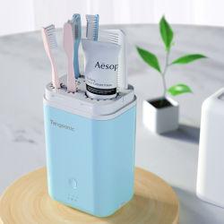 Esterilizador de cepillo de dientes con interna Mini Ventilador y UVC LED para uso de viaje portátil
