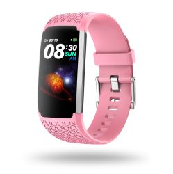 Waterdichte Staal Hl22 Roze Smartwatch van de Bloeddruk van het Product van de Dopheide van de Fabriek van Shenzhen het In het groot Androïde Voor de Sport van de Mens