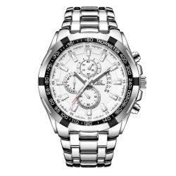 Horloge van de Mensen van de Stijl van de Steelband van het Merk van het Embleem van de Douane van de Mensen van de Manier van Iik het Klassieke Buitensporige met Japanse Mvmt