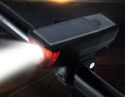 مصابيح LED الشمسية الدراجات المصابيح الأمامية الليل السلامة ركوب الدراجة مؤشر LED الأمامي مصابيح قابلة لإعادة الشحن