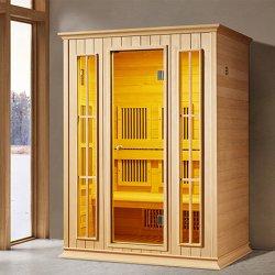 목욕탕 단단한 나무 구석 사용 호화스러운 적외선 Sauna