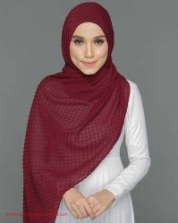 Abaya Foulard en mousseline de bulles de couleur unie pour les femmes Fashion Soft Hijab long foulard Wrap Foulards Turban instantanée Hijab tunique Hijab Khimar abaya