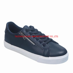 Sneakers chaussures occasionnel Mesdames PU Sport chaussures vulcanisées 8664